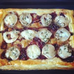 MTT: Goats Cheese and Caramelised Onion Tart