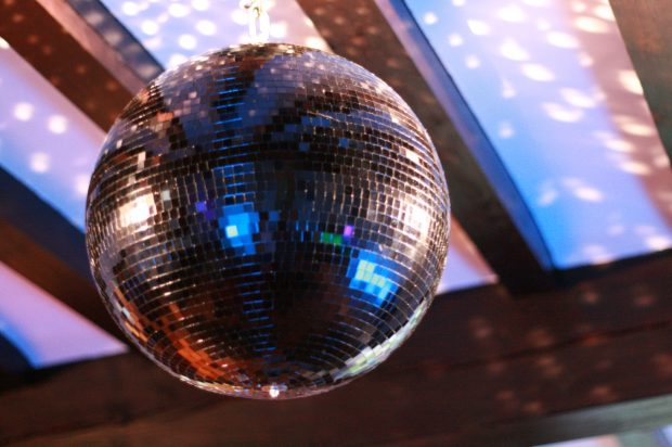Disco ball at Hill House, Norfolk