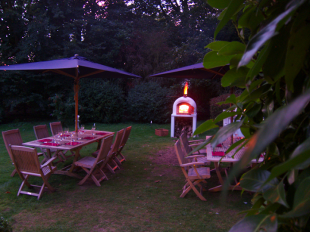Outside dining at Hill House, Norfolk