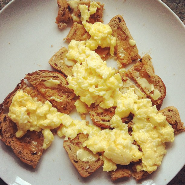 Stuff on Toast: Perfect Scrambled Eggs | More Than Toast