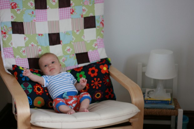 Baby on chair