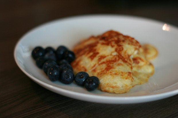 Paleo pancakes and berries