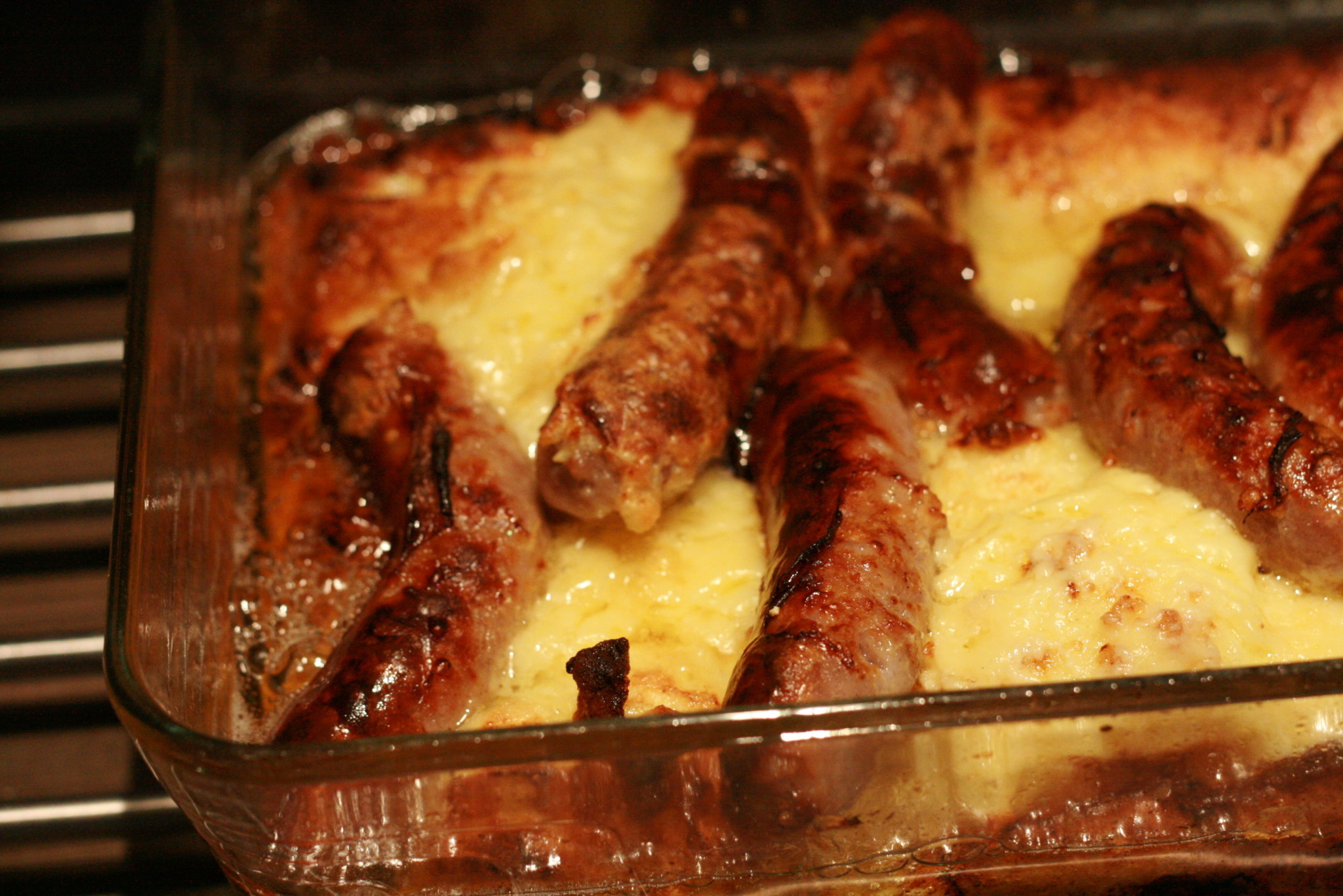 Cheesy Toad in the Hole