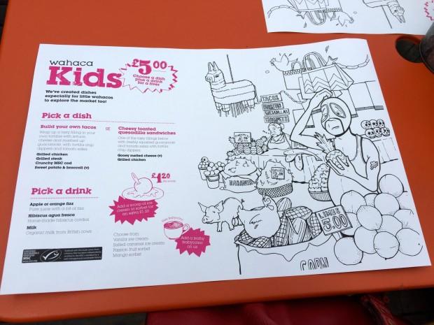 Wahaca Kids menu