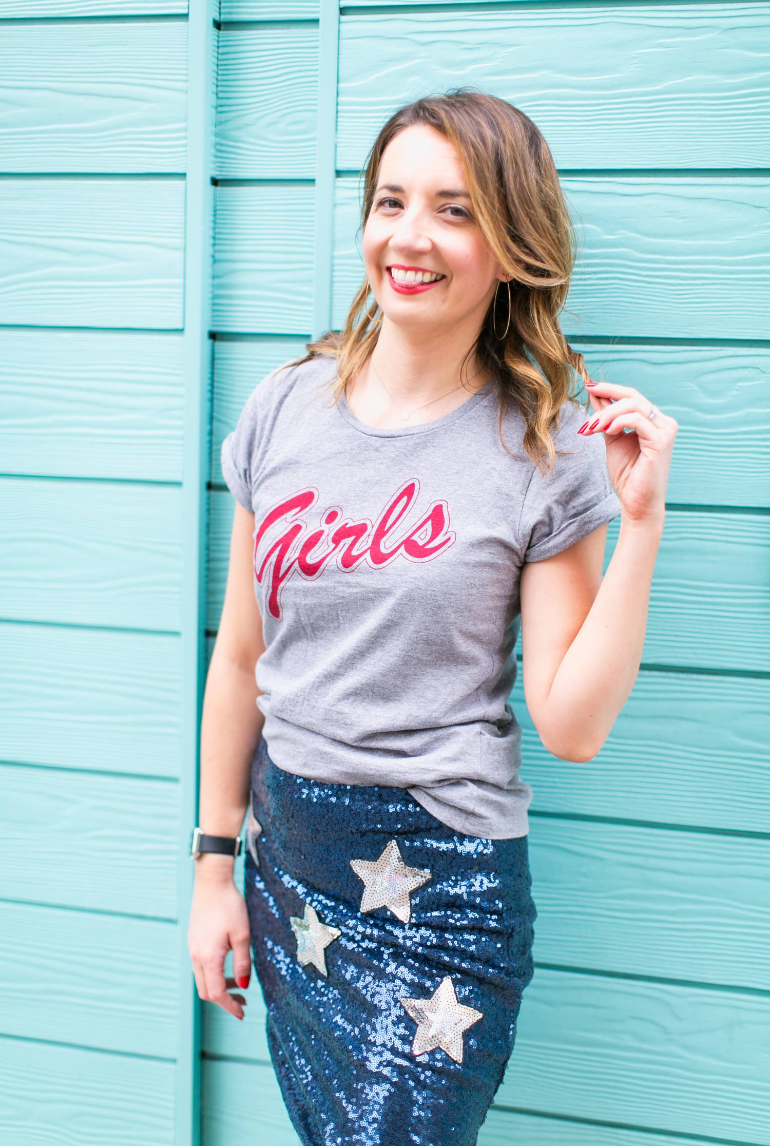 Girls tee in red