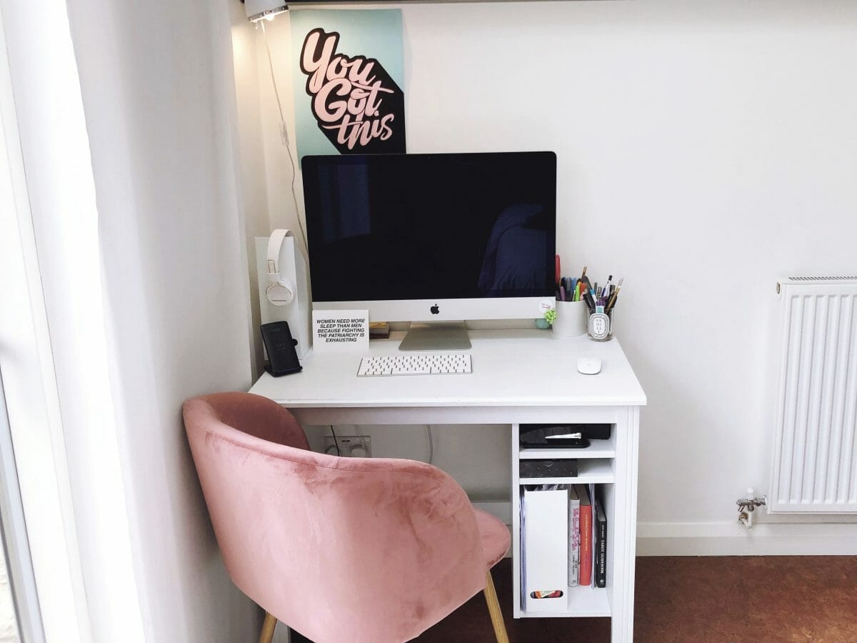 pink office chair dream office