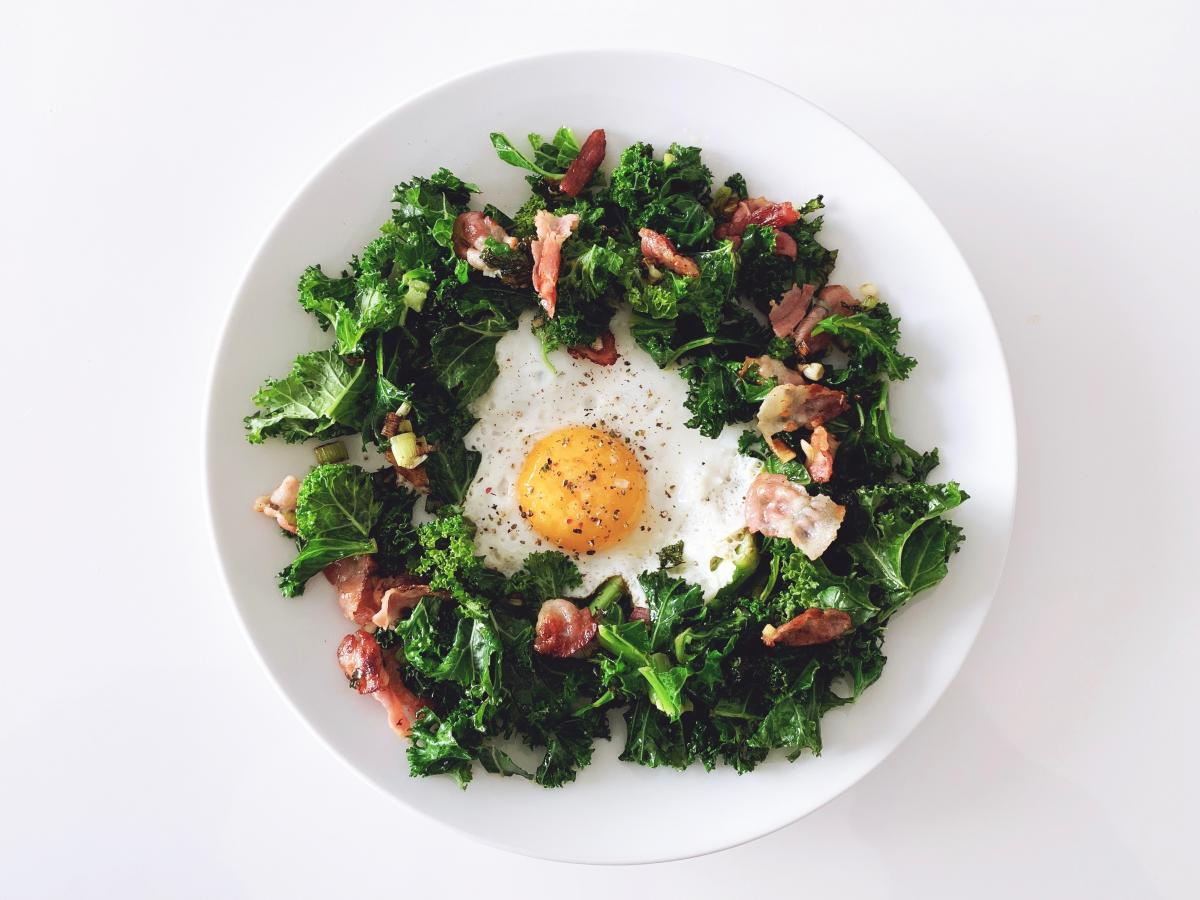 Kale and Eggs - a tasty and healthy lunch