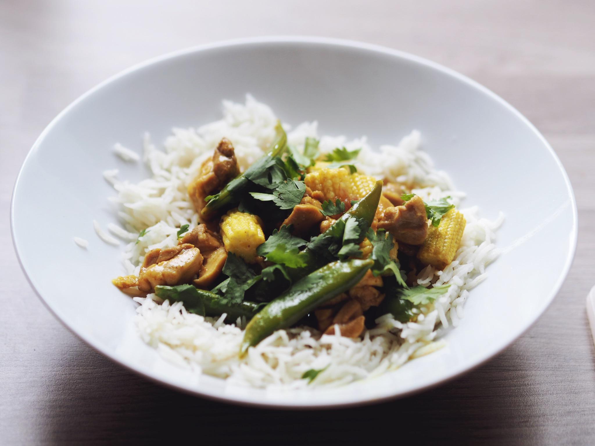 summer chicken curry